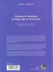 Chateaux Et Forteresses Du Moyen-Age En Val De Loire - 4ème de couverture - Format classique