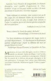Le Maitre Du Reve-Fantome - 4ème de couverture - Format classique