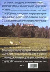 Les campagnes bourbonnaises il y a 100 ans - 4ème de couverture - Format classique