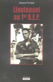 Lieutenant Au 1er R.E.P. - Intérieur - Format classique