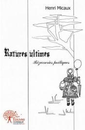 Ratures Ultimes - Couverture - Format classique