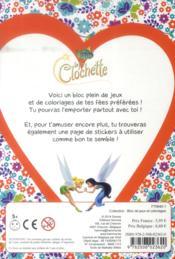 La fée clochette ; bloc de jeux et coloriages avec stickers - 4ème de couverture - Format classique
