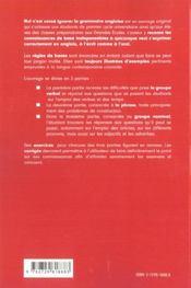 Nul N'Est Cense Ignorer La Grammaire Anglaise - 4ème de couverture - Format classique