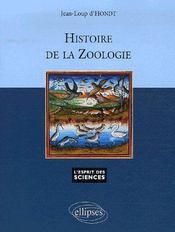Histoire de la zoologie - Couverture - Format classique