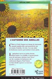 L'Automne Des Abeilles - 4ème de couverture - Format classique
