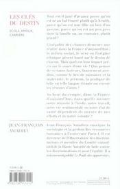 Les Cles Du Destin - 4ème de couverture - Format classique
