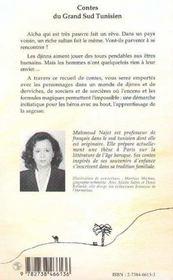 Contes du grand sud tunisien - 4ème de couverture - Format classique