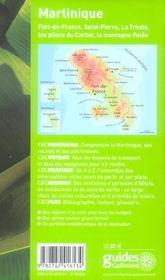 Geoguide ; Martinique (Edition 2006) - 4ème de couverture - Format classique