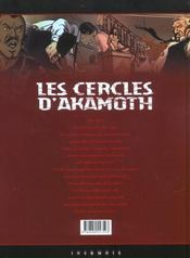 Les cercles d'Akamoth t.1; les sans-âme - 4ème de couverture - Format classique