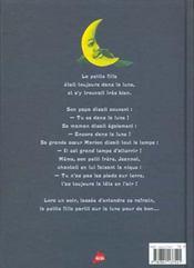 La petite fille dans la lune - 4ème de couverture - Format classique