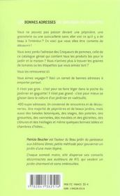 Bonnes Adresses Du Jardinier En Goguette (Les ) - 4ème de couverture - Format classique