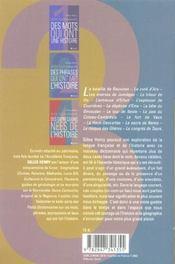 Petit Dictionnaire Des Lieux Qui Racontent L Histoire - 4ème de couverture - Format classique