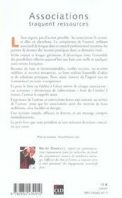 Associations Traquent Ressources - 4ème de couverture - Format classique