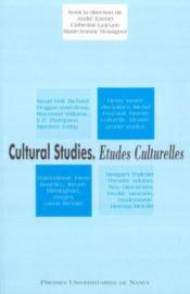 Cultural Studies- Etudes Culturelles - Couverture - Format classique