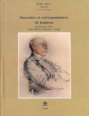 Souvenirs et correspondances de jeunesse - Couverture - Format classique