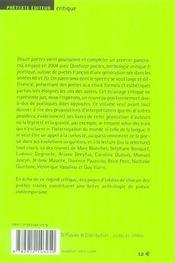 Douze Poetes - Anthologie Critique & Poetique Vol.2 - 4ème de couverture - Format classique