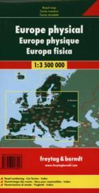 Europa hysisch ; Europa físico ; Europe fysiek ; autokarte ; mapa de carreteras ; autokaart - 4ème de couverture - Format classique