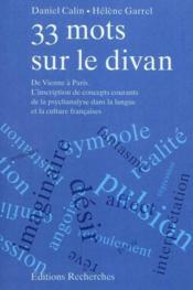 33 Mots Sur Le Divan - De Vienne A Paris - Couverture - Format classique