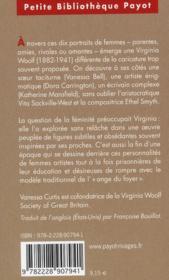 Les femmes de Virginia Woolf - 4ème de couverture - Format classique
