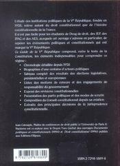 Le Guide De La Ve Republique - 4ème de couverture - Format classique