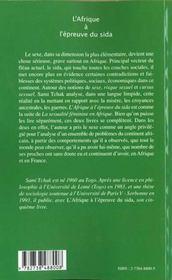 Afrique A L'Epreuve Du Sida - 4ème de couverture - Format classique
