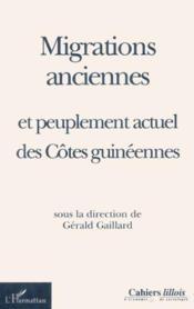 Migrations Anciennes Et Peuplement Actuel Des Cotes Quineennes - Couverture - Format classique