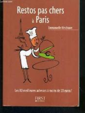 Restos pas chers à Paris - Couverture - Format classique