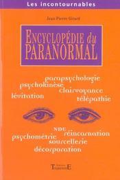 Encyclopedie Du Paranormal - Intérieur - Format classique