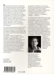 L'originalité de l'avant-garde et autres mythes modernistes - 4ème de couverture - Format classique
