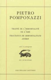 Traite de l'immortalite de l'ame/tractatus de immort... - Couverture - Format classique
