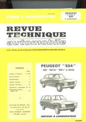 Etudes & Documentation De La Revue Technique Automobile - Peugeot 504 A Carburateur - Couverture - Format classique