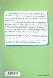 Comprendre La Mecanique Generale Par Les Problemes Sciences Industrielles Sts-Iut - 4ème de couverture - Format classique