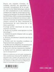 Le Droit De La Vie Politique - 4ème de couverture - Format classique