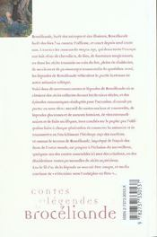 Contes et légendes de Brocéliande - 4ème de couverture - Format classique