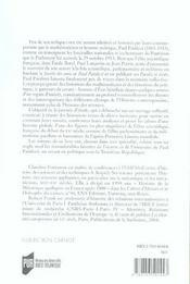 Paul Painlevé ; 1863-1933 ; un savant en politique - 4ème de couverture - Format classique