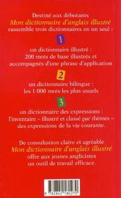 Dictionnaire d'anglais illustré - 4ème de couverture - Format classique