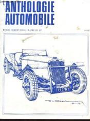 L'Anthologie De L'Automobile N°27 - Couverture - Format classique