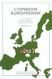 L'opinion européenne 2002 - Intérieur - Format classique