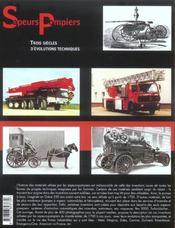 Sapeurs-Pompiers 3 Siecles D'Evolutions Techniques - 4ème de couverture - Format classique