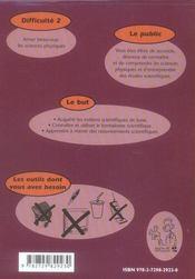 Physique chimie ; 2nde ; difficulté 2 - 4ème de couverture - Format classique