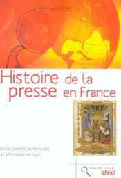 Histoire De La Presse En France - Intérieur - Format classique