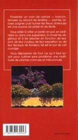 Fleurir balcons et fenetres - 4ème de couverture - Format classique