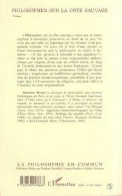 Philosopher Sur La Cote Sauvage - 4ème de couverture - Format classique