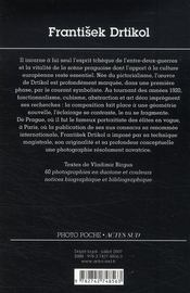 Frantisek drtikol - 4ème de couverture - Format classique