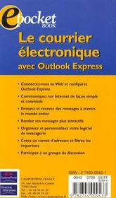 Le Courrier Electronique Avec Outlook Express - 4ème de couverture - Format classique