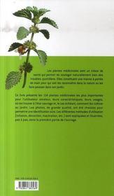 Plantes médicinales - 4ème de couverture - Format classique