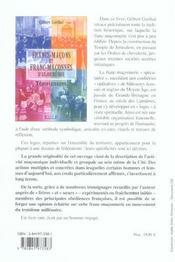 Franc-Macons Et Franc-Maconnes D'Aujourd'Hui - Temoignages - 4ème de couverture - Format classique