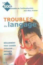 Troubles du langage - Intérieur - Format classique