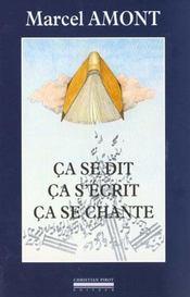 Ca Se Dit,Ca S'Ecrit,Ca Se Chante - Intérieur - Format classique