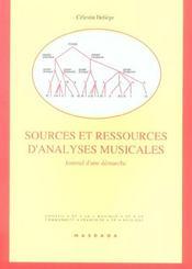 Sources Et Ressources D'Analyses Musicales - Intérieur - Format classique